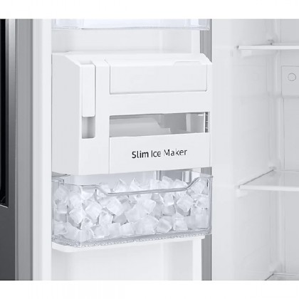 SAMSUNG 670L  RS63R5561M9/ME 3 DOORS SIDE BY SIDE REFRIGERATOR